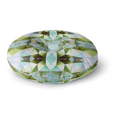 Pia Schneider Polygon Diamond III Vector Round Floor Pillow Size: 26 x 26
