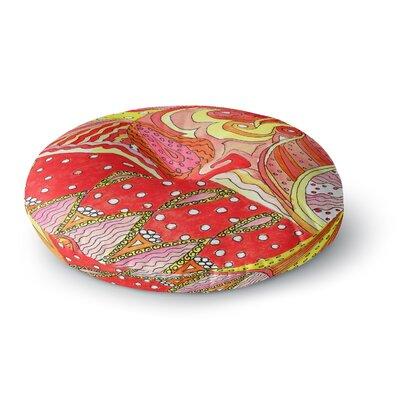 Rosie Brown Swirls Round Floor Pillow Size: 23 x 23