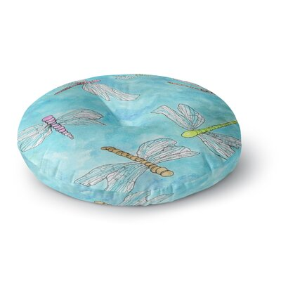 Rosie Brown Dragonfly Round Floor Pillow Size: 23 x 23