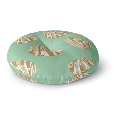 Rosie Brown Scallop Shells Round Floor Pillow Size: 26 x 26