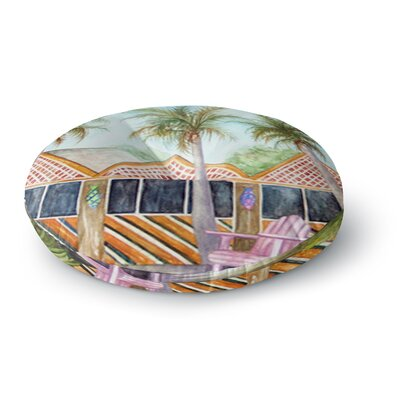 Rosie Brown McT on Sanibel Round Floor Pillow Size: 23 x 23