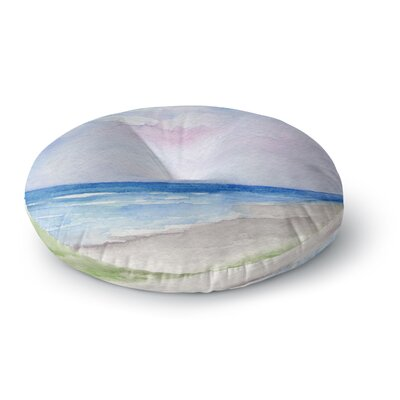 Rosie Brown Wet Sand Beach View Round Floor Pillow Size: 23 x 23