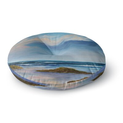 Rosie Brown Summer Showers Beach Round Floor Pillow Size: 26 x 26