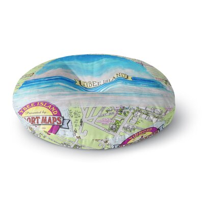 Rosie Brown Tybee Island Ocean View Round Floor Pillow Size: 26 x 26