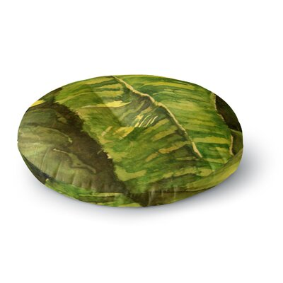 Rosie Brown Tropical Garden Leaf Round Floor Pillow Size: 26 x 26