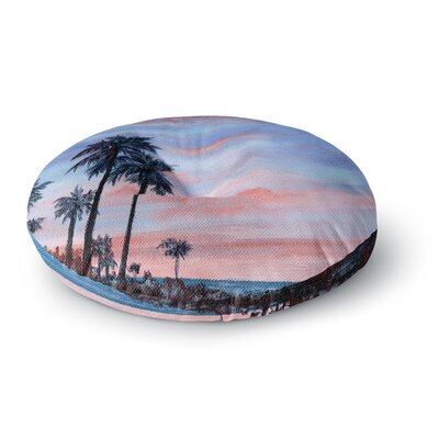 Rosie Brown Florida Sunset Round Floor Pillow Size: 26 x 26
