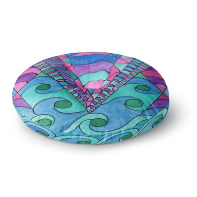 Rosie Brown Gatsby Inspired Round Floor Pillow Size: 23 x 23