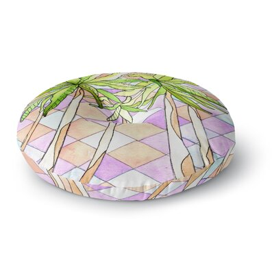 Rosie Brown Geometric Tropic Round Floor Pillow Size: 26 x 26