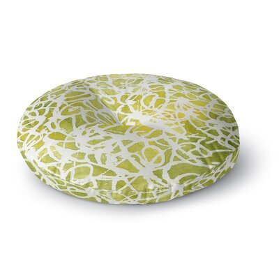 Rosie Brown Spiral Abstract Round Floor Pillow Size: 26 x 26