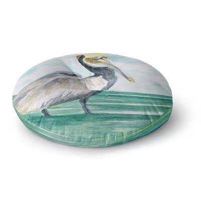 Rosie Brown Pelican Coastal Watercolor Round Floor Pillow Size: 26 x 26