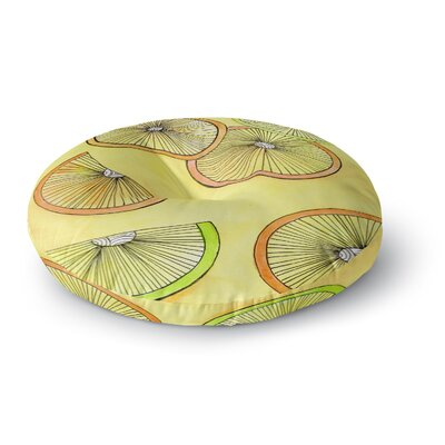 Rosie Brown Lemons and Limes Fruit Round Floor Pillow Size: 26 x 26
