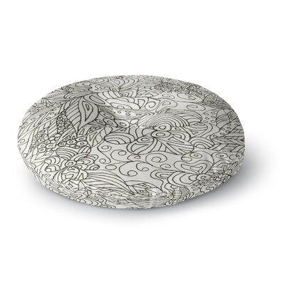 Rosie Brown Zentangle Garden Zengle Round Floor Pillow Size: 26 x 26
