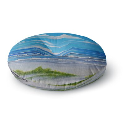 Rosie Brown Sanibel Island Coastal Painting Round Floor Pillow Size: 23 x 23