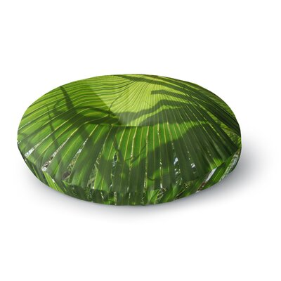 Rosie Brown Palm Shadows Round Floor Pillow Size: 23 x 23