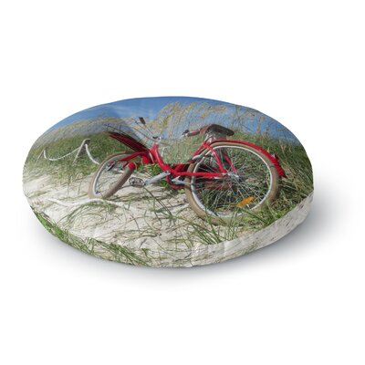 Rosie Brown The Bike Photography Round Floor Pillow Size: 23 x 23