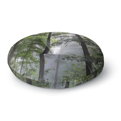 Rosie Brown Morning Fog Photography Round Floor Pillow Size: 23 x 23