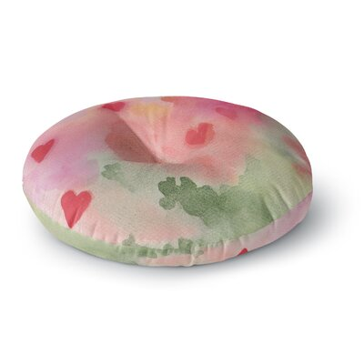 Rosie Brown All My Loving Watercolor Round Floor Pillow Size: 26 x 26