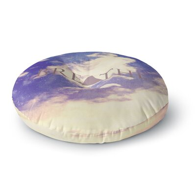 Rachel Burbee Breathe Round Floor Pillow Size: 23 x 23