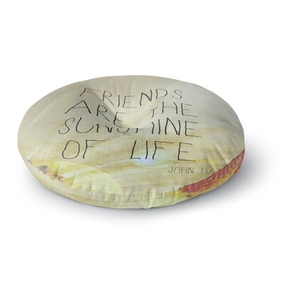 Rachel Burbee Friends & Sunshine Round Floor Pillow Size: 26 x 26