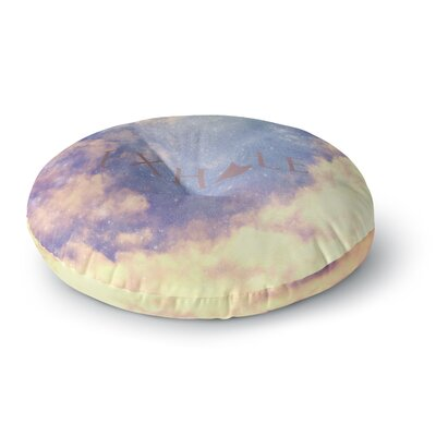 Rachel Burbee Exhale Round Floor Pillow Size: 23 x 23