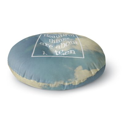 Rachel Burbee Beautiful Things Sky Clouds Round Floor Pillow Size: 23 x 23