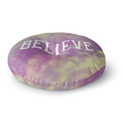 Rachel Burbee Believe Clouds Round Floor Pillow Size: 26 x 26