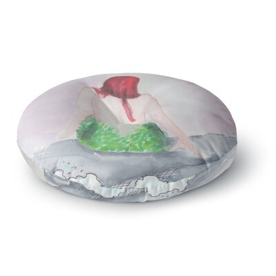 Rebecca Bender Longing to Be Free Fantasy Painting Round Floor Pillow Size: 23 x 23