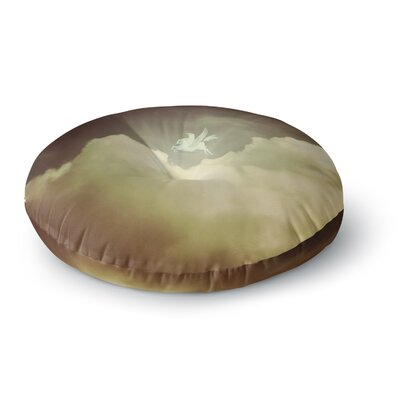 Richard Casillas Pegasus Round Floor Pillow Size: 23 x 23