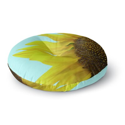 Richard Casillas Sunflower Mint Round Floor Pillow Size: 23 x 23