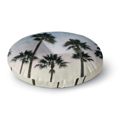 Richard Casillas 'Paradise Palms' Round Floor Pillow Size: 26