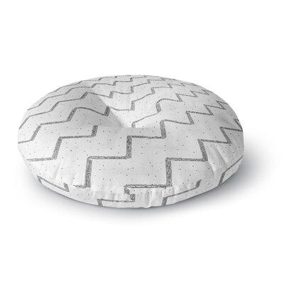 Richard Casillas Speckled ZigZag Round Floor Pillow Size: 23 x 23