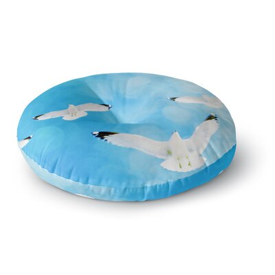 Robin Dickinson Fly Free Birds Sky Round Floor Pillow Size: 26 x 26