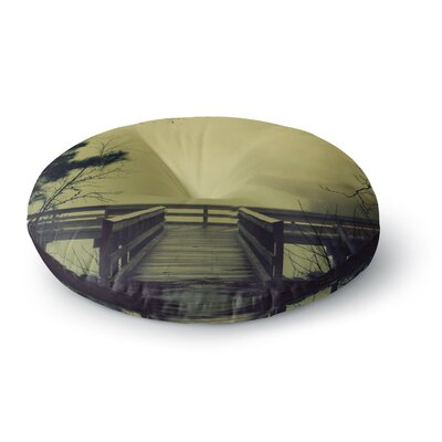 Robin Dickinson Fog on the River Round Floor Pillow Size: 26 x 26