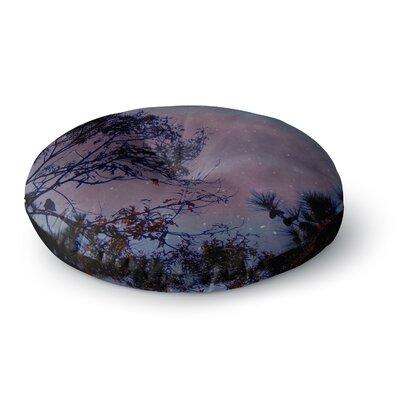 Robin Dickinson Twilight Tree Round Floor Pillow Size: 26 x 26