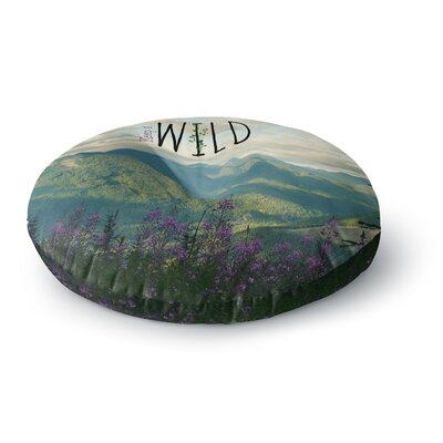 Robin Dickinson Keep it Wild Round Floor Pillow Size: 26 x 26