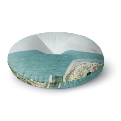 Robin Dickinson Ocean View Ocean Round Floor Pillow Size: 23 x 23