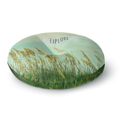 Robin Dickinson Explore Quote Round Floor Pillow Size: 26 x 26