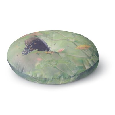 Robin Dickinson Captivating II Flower Round Floor Pillow Size: 26 x 26