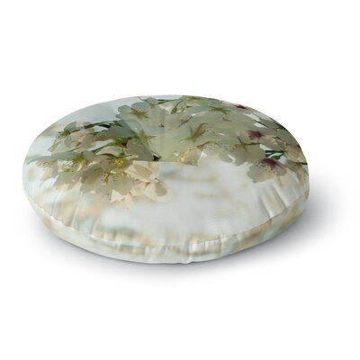 Robin Dickinson Cherry Blossoms Flower Round Floor Pillow Size: 26 x 26