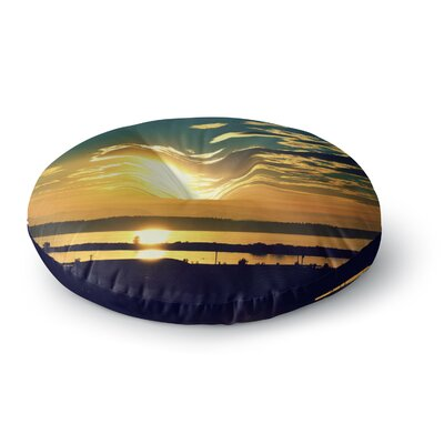 Robin Dickinson Conquer Your World Round Floor Pillow Size: 26 x 26