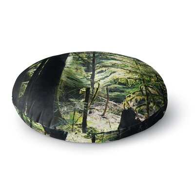 Robin Dickinson 'Enchanted Forest' Round Floor Pillow Size: 23