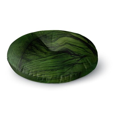 Robin Dickinson 'Feather Green' Peacock Round Floor Pillow Size: 23