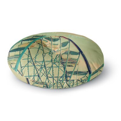 Robin Dickinson Ferris Wheel Round Floor Pillow Size: 26 x 26