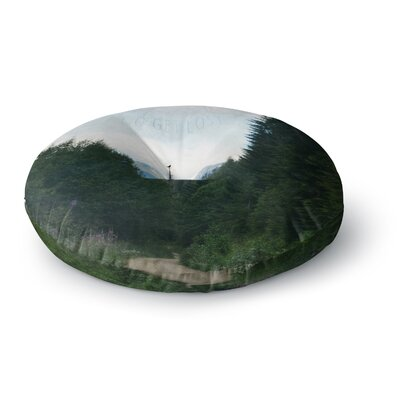 Robin Dickinson Go Get Lost Forest Round Floor Pillow Size: 26 x 26
