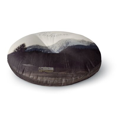 Robin Dickinson Go into the Unknown Round Floor Pillow Size: 26 x 26