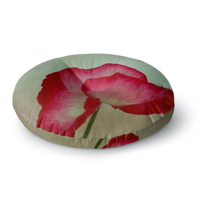 Robin Dickinson La Te Da Poppies Round Floor Pillow Size: 23 x 23