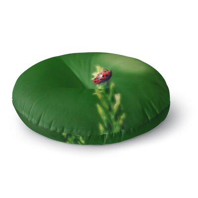 Robin Dickinson Ladybug Hugs Round Floor Pillow Size: 23 x 23