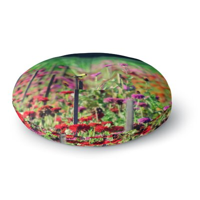 Robin Dickinson Live in the Sunshine Round Floor Pillow Size: 26 x 26