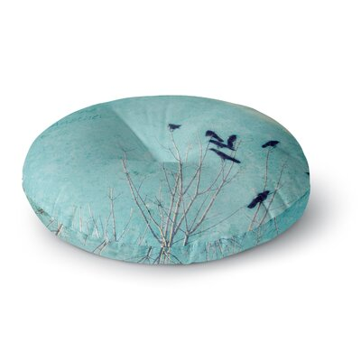 Robin Dickinson Love One Another Birds Round Floor Pillow Size: 23 x 23