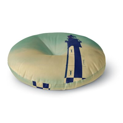 Robin Dickinson New Cape Henry Lighthouse Round Floor Pillow Size: 23 x 23